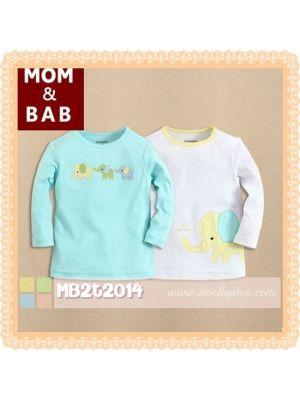 Mom And Bab Top 2pk - Elephant
