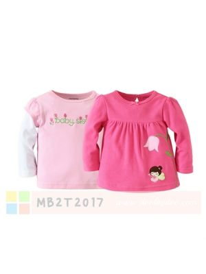 Mom And Bab Top 2pk - Pink Tulip Angel