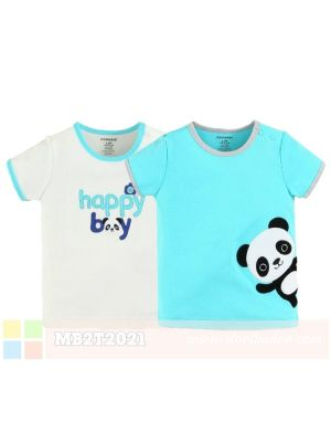 Mom And Bab Short Sleeve Top 2pk - Happy Boy Panda