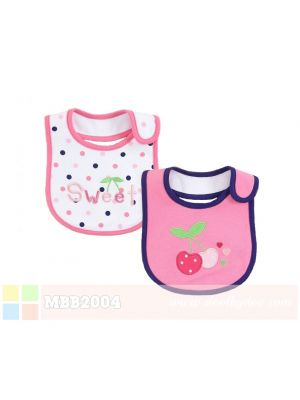 Mom And Bab Baby Bibs 2pk - Sweet Cherry