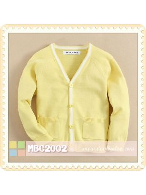 Mom And Bab Cardigan - Yellow