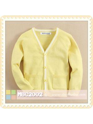 Mom And Bab Cardigan - Yellow