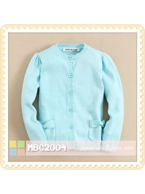 Mom And Bab Cardigan - Sky Blue