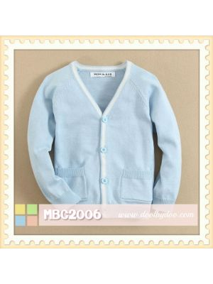 Mom And Bab Cardigan - Blue