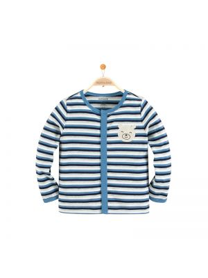 Mom and Bab Striped Cardigan - Blue