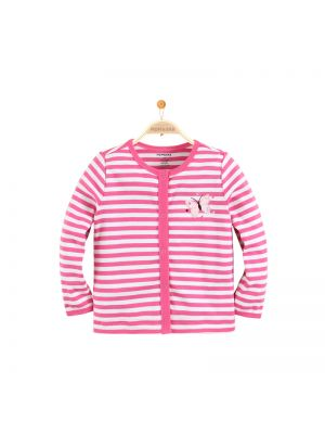 Mom and Bab Striped Cardigan - Pink
