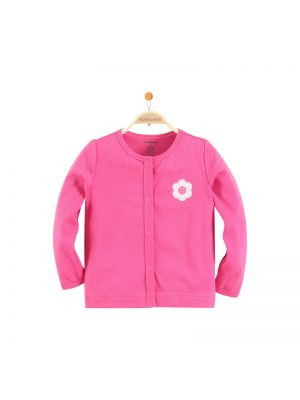 Mom And Bab Cardigan - Flower/Pink