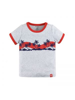Mom And Bab Coconut Tree Collection - Grey Short Sleeve Tee