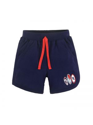 Mom And Bab Coconut Tree Collection - Navy Summer Shorts