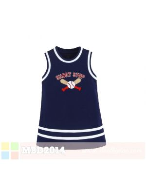Mom And Bab Allstar Dress - Navy Short Stop