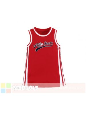 Mom And Bab Allstar Dress - Red All Star