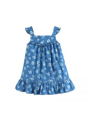 Mom And Bab Denim Dress - Light Blue
