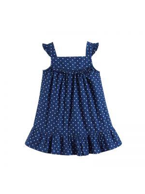 Mom And Bab Denim Dress - Dark Blue