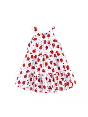 Mom And Bab Printed Sundress - Ladybugs