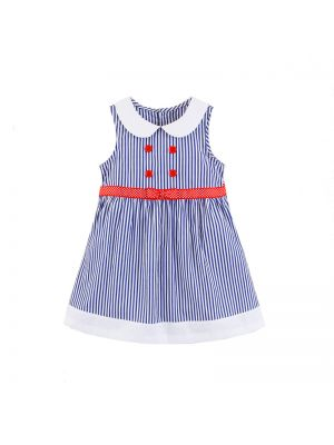 Mom And Bab Daisy Collection - Striped Woven Dress