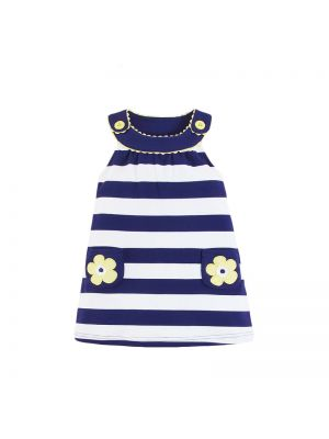Mom And Bab Daisy Collection - Wide Striped Dress