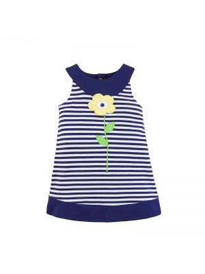 Mom And Bab Daisy Collection - Fine Striped Dress