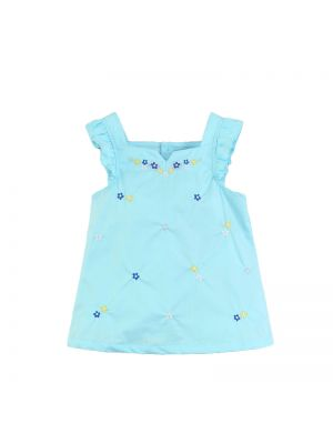Mom And Bab Daisy Collection - Blue Woven Top