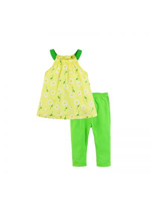 Mom And Bab Daisy Collection - Daisy Woven Top & Legging Set
