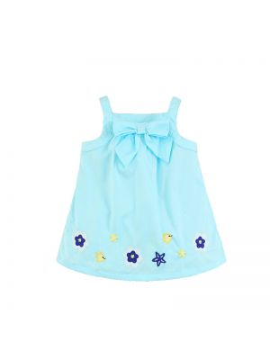 Mom And Bab Daisy Collection - Blue Bow Top