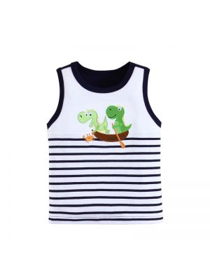 Mom and Bab Dino Collection - Striped Sleeveless Top