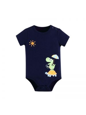 Mom and Bab Dino Collection - Navy Bodysuit