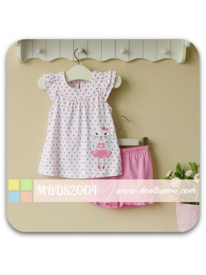 2-piece Bloomer Shorts Set - Pink Dot