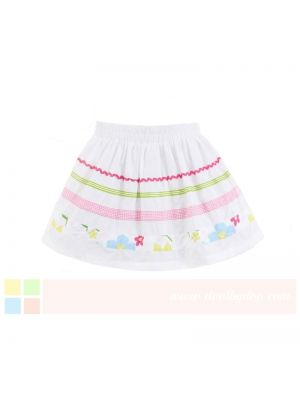 Mom And Bab Eden Collection - White Striped Miniskirt