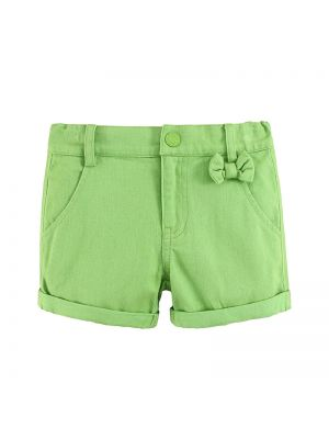 Mom And Bab Flower Collection - Green Shorts