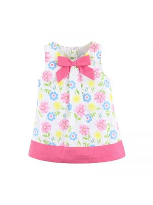 Mom And Bab Flower Collection - Summer Floral A-Line Dress