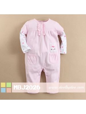 Mom And Bab Jumpsuit - Pink Bunny
