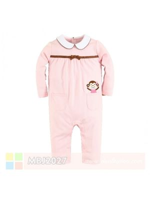 Mom And Bab Jumpsuit - Pink Monkey