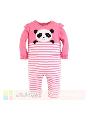 Mom And Bab Jumpsuit - Pink Panda