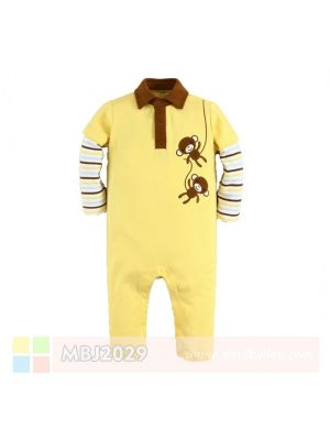 Mom And Bab Jumpsuit - Yellow Monkey