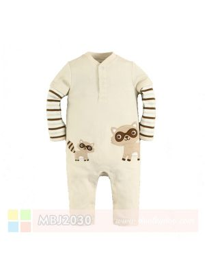 Mom And Bab Jumpsuit - Brown Raccoon
