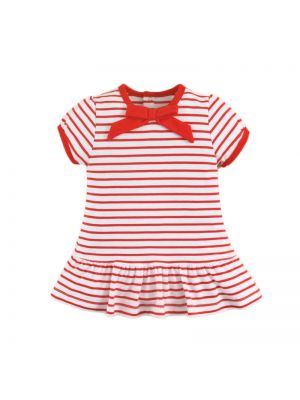 Mom And Bab Navigation Collection - Striped Pleated Dress