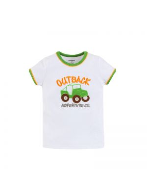 Mom And Bab Outback Collection - White Short Sleeve Tee