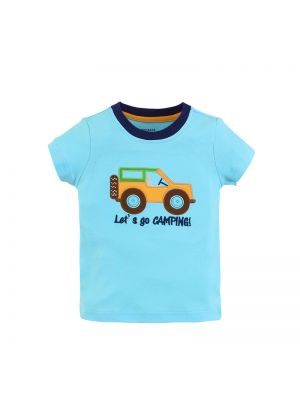 Mom And Bab Outback Collection - Blue Short Sleeve Tee