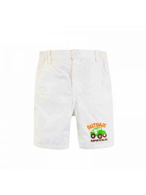 Mom And Bab Outback Collection - White Woven Shorts