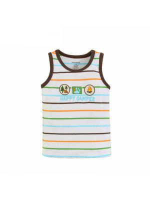 Mom And Bab Coconut Tree Collection - Striped Sleeveless Tee