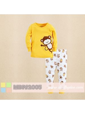 Mom And Bab Pajamas - Monkey