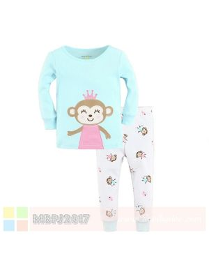 Mom And Bab Pajamas - Princess Monkey