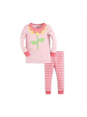 Mom And Bab Pajamas - Flower Stalk