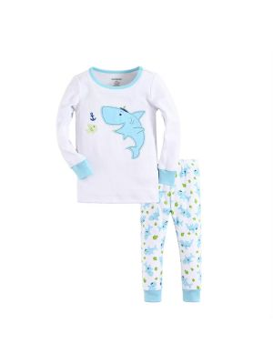 Mom And Bab Pajamas - Captain Shark