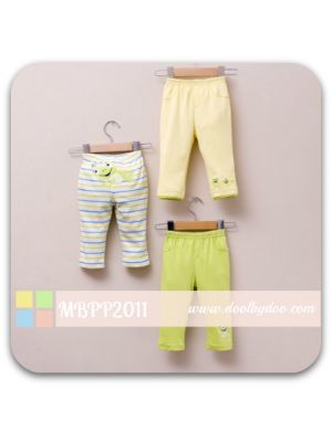 Mom And Bab Long Pants 3pk - Frog