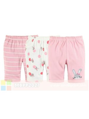 Mom And Bab Pants 3pk - Bunny