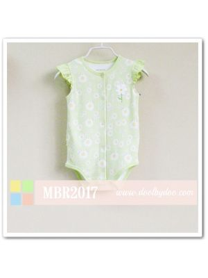 Mom and Bab Flutter Sleeve Bodysuit - Daisies