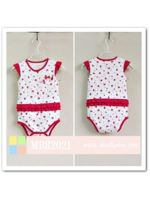 Mom and Bab Flutter Sleeve Bodysuit - Cherries