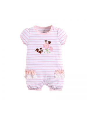 Mom And Bab Stripes Sunsuit - Squirrels