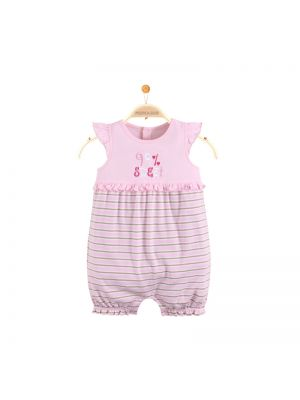 Mom And Bab Flutter Sleeves Bodysuit - Pink
